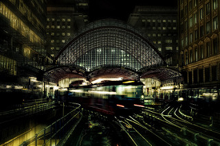 Canary Wharf Station from West India Quay