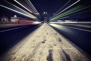 Waterloo Bridge - Light Trails