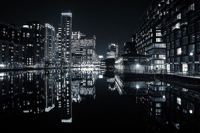 Canary Wharf View from Millwall Inner Dock