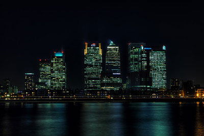 Canary Wharf view from Olympian Way